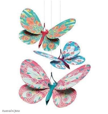 Závěsná dekorace - Motýli - 2