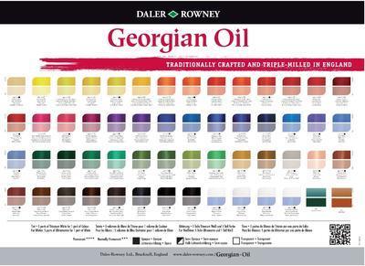 Daler & Rowney Georgian Oil 38ml - Burnt Umber 223, olejová barva - 2