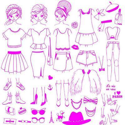 StampoFashion Převlékací panenky - Holky z města - 2