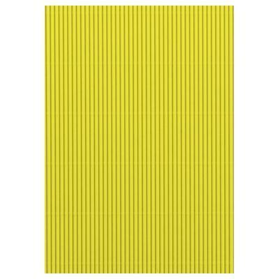 Karton vlnitý 50x70cm, 300g/m2 - světle žlutý    - 2