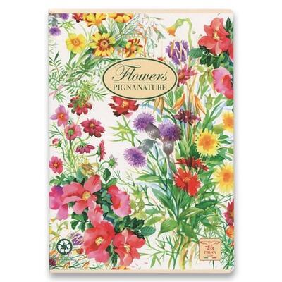 Školní sešit PIGNA A4, čistý, 40 listů - Nature Flowers  - 2