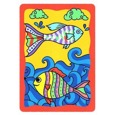 SAND ART - pískování obrázků - 2 obrázky k vypískování + 2 rámečky chameleon a ryby - 2