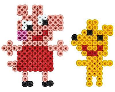 Hama MAXI Mix korálků v boxu - Peppa Pig, 900 ks - 2