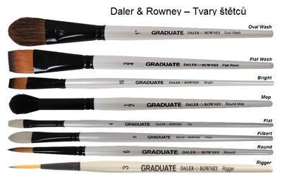 Daler & Rowney Simply Natural White Bristle Štětce pro olej Sada 10 ks v kovové dóze - 2