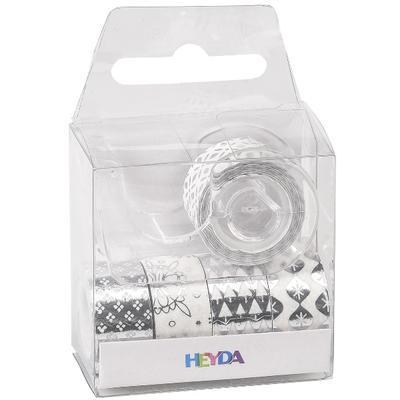 """Samolepící páska """"Mini"""" 12 mm x 3 m - lesklá stříbrná, 5ks - 2"""