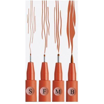Faber-Castell PITT Artist Pen - S, F, M, B sanguine 4 ks - 2