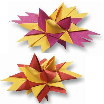 Dekorační papírové proužky pro výrobu hvězd - 35x1cm, 100ks - 2