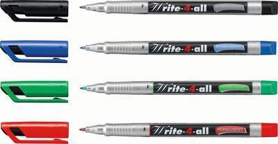 Stabilo Write-4-all, Permanent fix  0,7 mm  - červená - 2