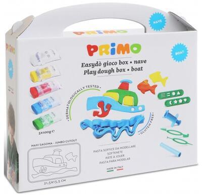Sada modelovacích hmot PRIMO NATUR, 5x100g + pomůcky, podložka, vykrajovátko - Loď - 2