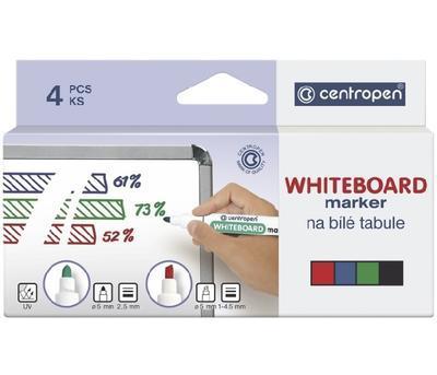 Značkovač WHITEBOARD Marker na bílé tabule  Sada 4 ks - 2