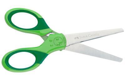 Faber-Castell Grip Školní nůžky s krytem - zelené - 2