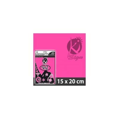 Nažehlovací fólie HOT FIX 15x20 cm fluo - růžová - 2