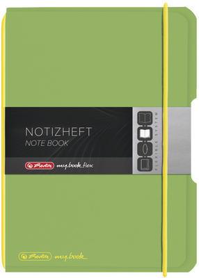 Sešit flex A5/40 listů, čtverečkovaný - zelený - 2