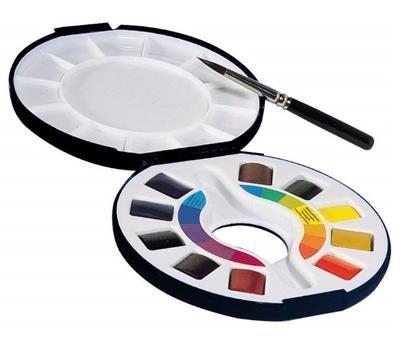 Raphaël  Campus Akvarelové barvy v kulaté plast. krabičce  - 2