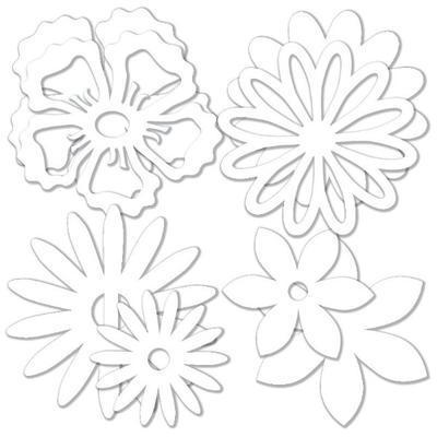 Výřez - Květiny mix, 32 ks - 2