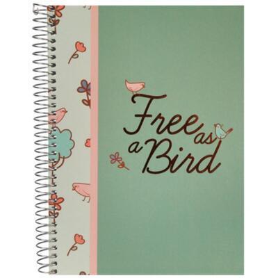 BIRDS - Kroužkový zápisník /A5 - linkovaný - 2