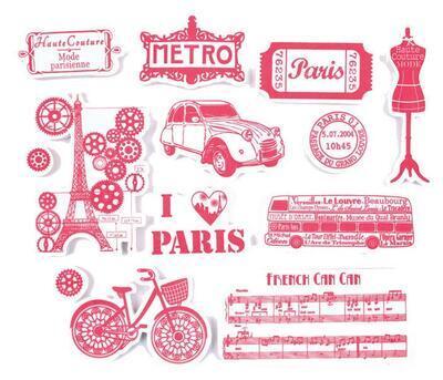 StampoTextile - Romantická Paříž - 2