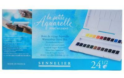 Sennelier Akvarelové barvy - 24ks - 2