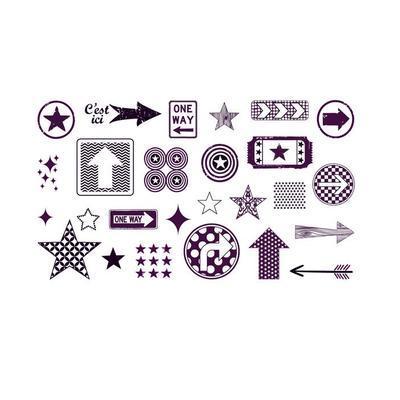 StampoScrap - Šipky a hvězdy - 2