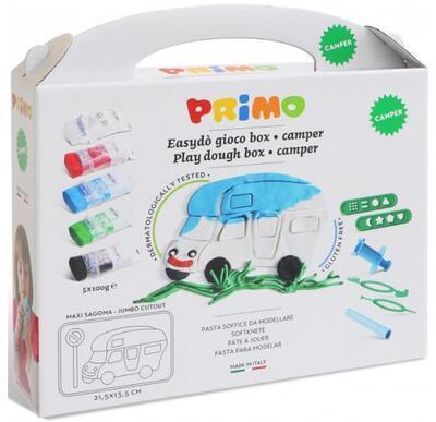 Sada modelovacích hmot PRIMO NATUR, 5x100g + pomůcky, podložka, vykrajovátko - Auto - 2