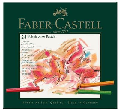 Faber-Castell Pastely Polychromos umělecké křídy - 24ks - 2