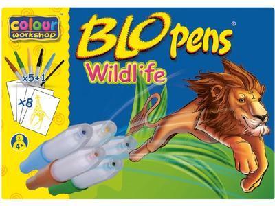 Foukací fixy BLOpens Wildlife na papír Sada 5+1 - 2