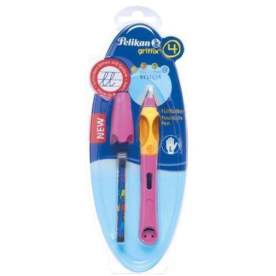 Pelikan Bombičkové pero Griffix 4 pro leváky - malinové/oranžové - 2