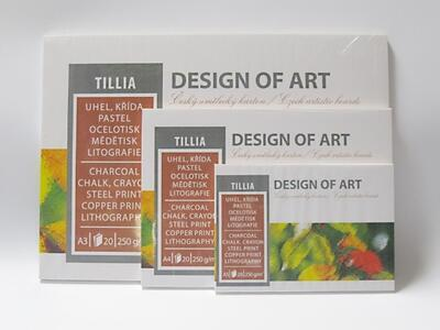 Blok grafický Tillia A5, 250 g/m2, 20 listů - 2