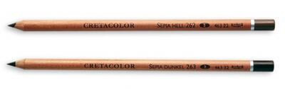 Cretacolor Pastel Sepie světlá suchá - střední - 2