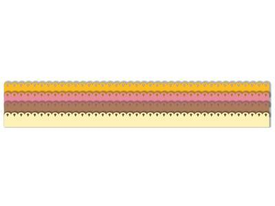 Výřez - Skládané rozety 2, malé, 8 ks - 2
