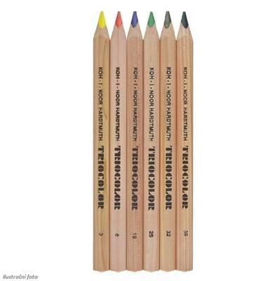 Trojhranné pastelky Triocolor silné - 6 ks přírodní - 2