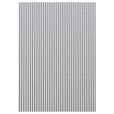 Karton vlnitý 50x70cm, 300g/m2 - stříbrný   - 2
