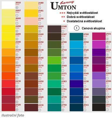 Akvarelová barva 2,6ml - Okr červený/ 1 - 2