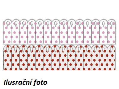 Výřez - Skládané rozety 3, malé, puntík, 8 ks - 2