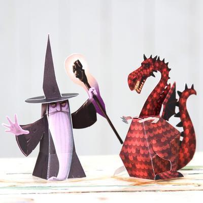 Origami skládačka - Draci - 2