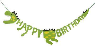 Girlanda STYLEX 14262, Jednorožec Happy Birthday, dinosaurus Bunting / 2,5m - 2