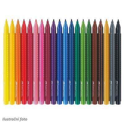Faber-Castell Popisovače Grip Colour Marker - sada 20 ks - 2