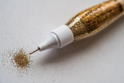 Třpytky v tužce, zlaté - 2