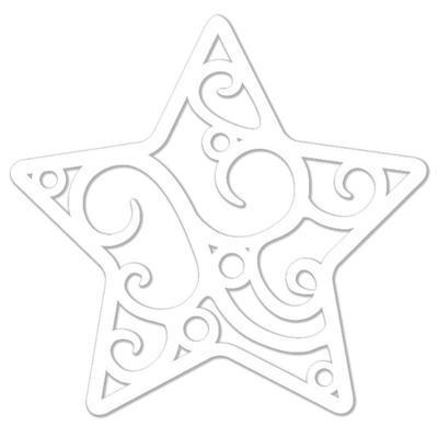 Výřez filigrán - Hvězda, 12 ks - 2