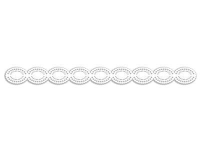 Výřez Bordura - Celá krajka, bílá, 8 ks - 2