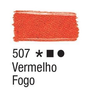 Acrilex Barva na textil 37ml - ohnivá červená 507 - 2