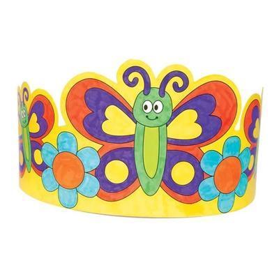 Papírová korunka - Květiny a motýlci, 8 ks - 2