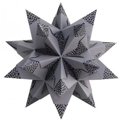 Folia Origami Hvězda Bascetta Elegance - antracit, 32 archů 9,5x9,5cm - 2