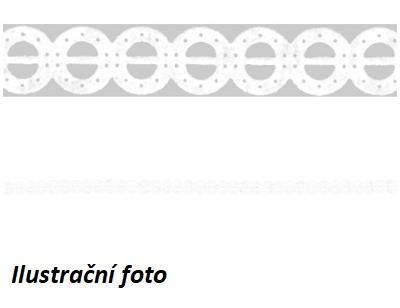 Samolepící proužek délka 2m, šířka 8mm - Kroužky, bílý  - 2