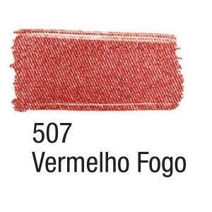 Acrilex Barva na textil 37ml - metalická ohnivě červená 507 - 2