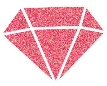 Diamantová barva 80 ml - červená - 2