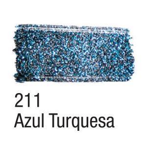 Acrilex Barva na textil 37ml - glitrová tyrkysově modrá 211 - 2
