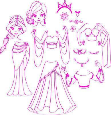 StampoFashion Převlékací panenky - Princezny z Orientu - 2