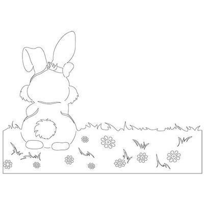 Výřez - Zajíc, obal na květináč, 1 ks - 2