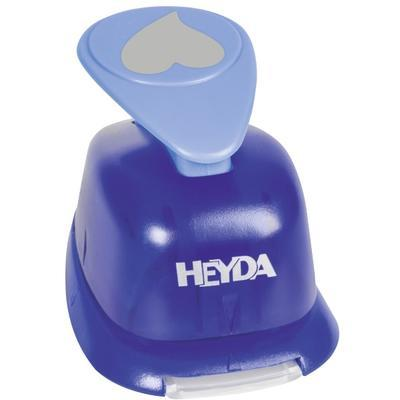 HEYDA Děrovač (raznice) modrý 22 mm - Srdíčko  - 2